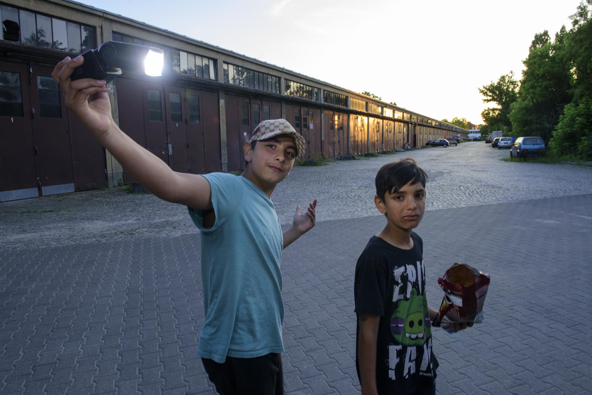 Refugee kids from Spandau